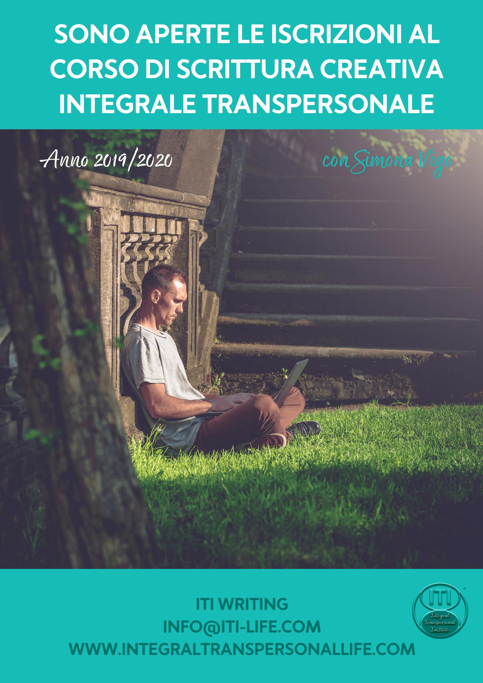 ITI Writing Corso di Scrittura Integrale Transpersonale a Milano 2019/2020